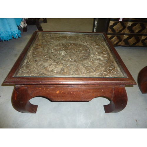 Table basse TRIBAL 75x75x40 cm
