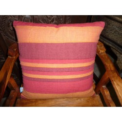 Housse 40x40 cm orange bordeau violet