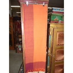 Petit kerala bordeau orange - couture 150x220 cm