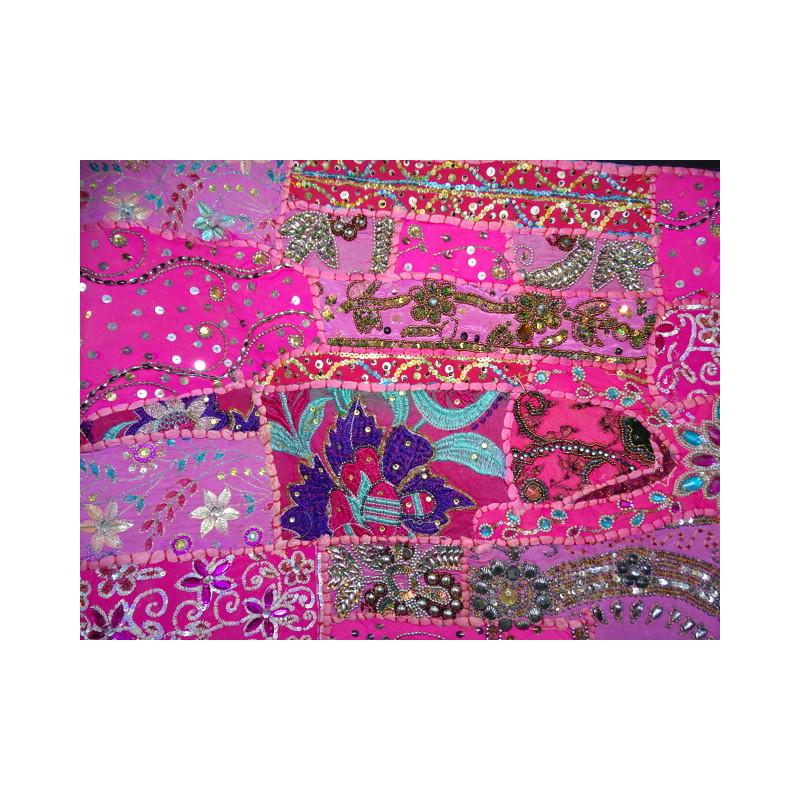 Coussin bord brocard 60x60 vert fonc importateur - Housses de coussin 60x60 ...