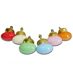Lot de 6 boutons en porcelaine - Lot 26