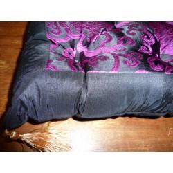 Rideaux Organdi turquoise froissé