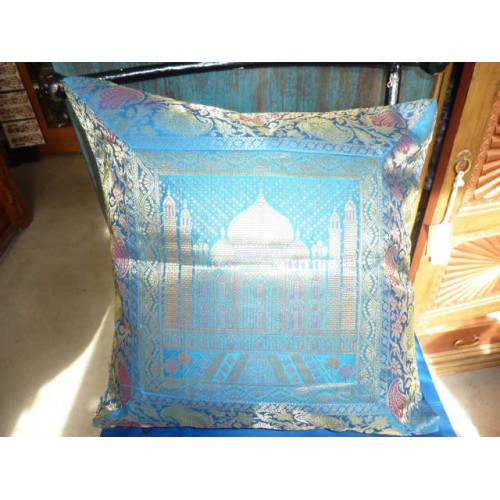 housse de coussin turquoise 40x40 taj mahal importateur. Black Bedroom Furniture Sets. Home Design Ideas