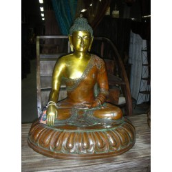 Statue de buddha en bronze enseignement
