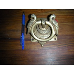 heurtoir en bronze carré doré
