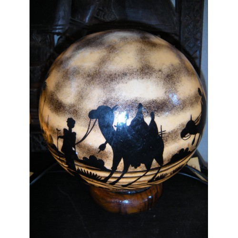 Globe cuir de chameau (C)