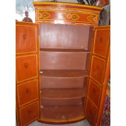 Boutons en porcelaine poire rose pois bleus