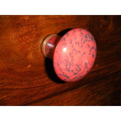 Boutons en porcelaine poire marbre rouge