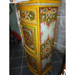 Boutons en porcelaine trait bleu