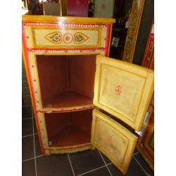 Boutons en porcelaine étoile orange bleu