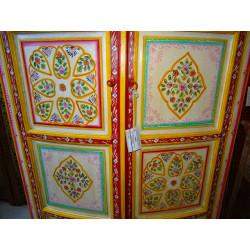 Patère céramique 16x9 cm arabesque bleue
