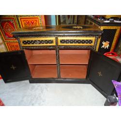 Boutons en porcelaine trait blanc/vert pomme