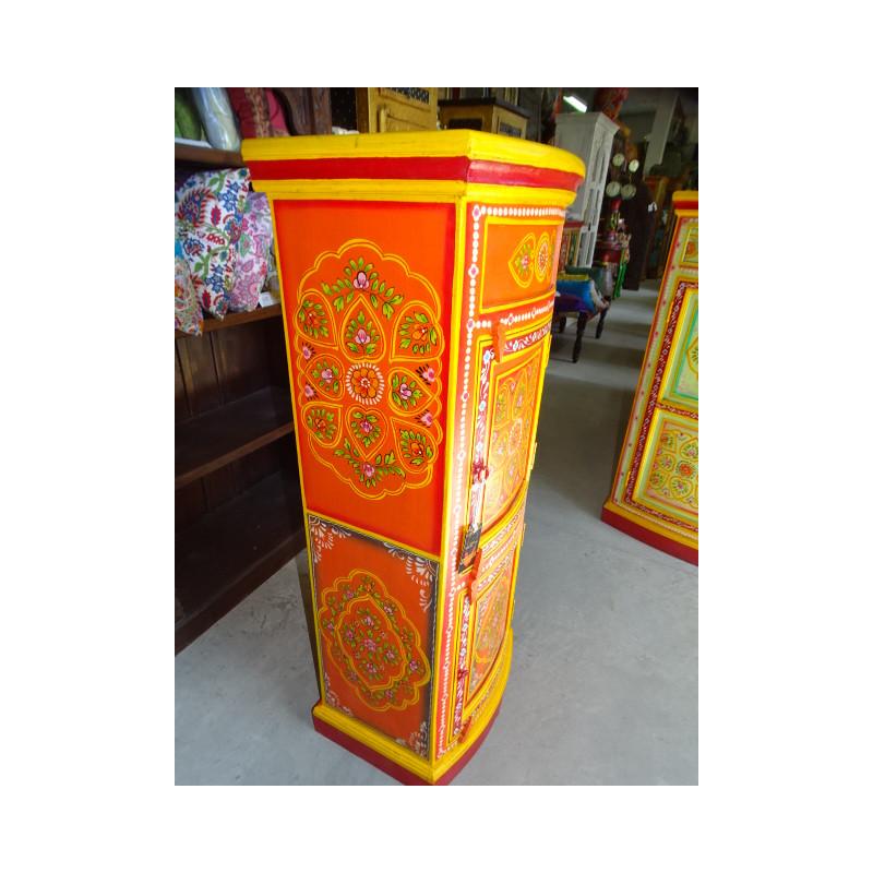 Boutons en porcelaine vert/violet/jaune