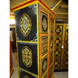 poignée en bronze animal musicien tambour doré