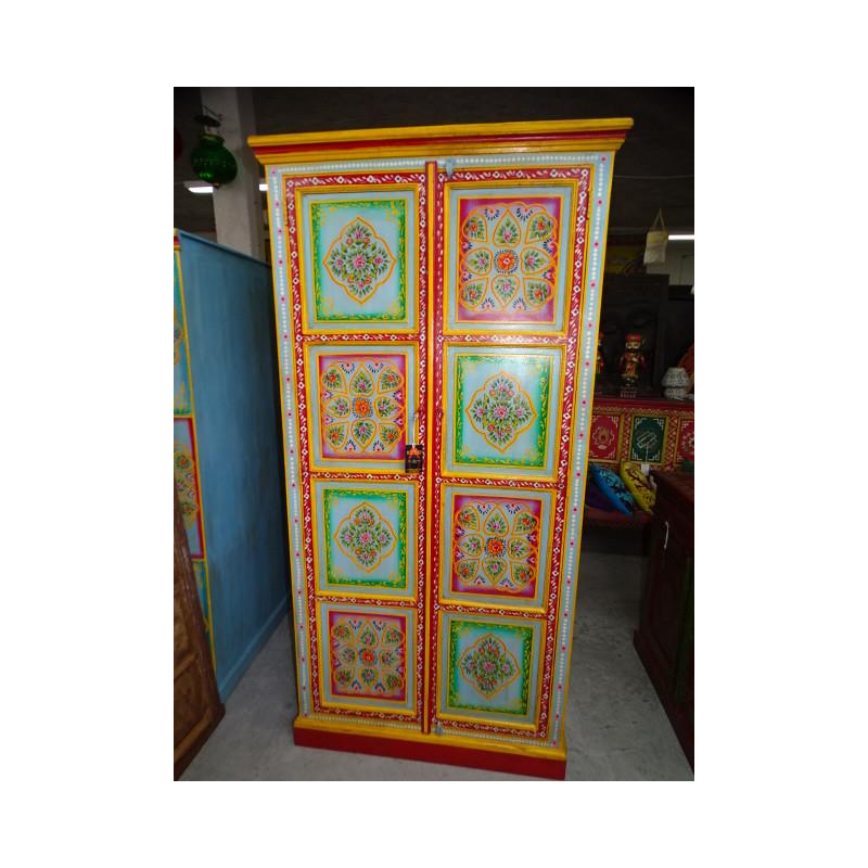 Paravent sculpté 'Arche' Blanc poncé