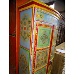 poignée en bronze animal musicien maracasse vert