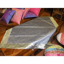 Nappes taffetas brocard 110x110 cm grise