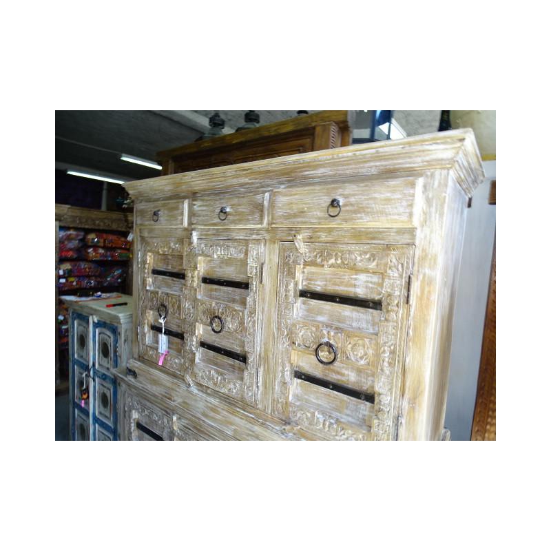 vieille pièces sculptées (set de 2)