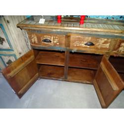 Jarre à eau peinte main turquoise (PM)