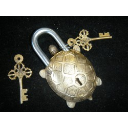 Cadenas en bronze Tortue or