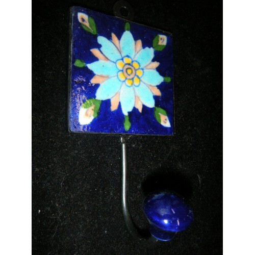 8x8 cm Outremer fleur turquoise