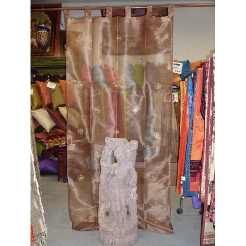 Arabesques brodées et miroirs Marron glacé