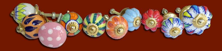 Mini boutons en porcelaine