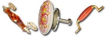 Poignées en porcelaine