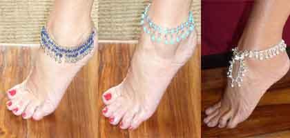 Bracelets de cheville indiens