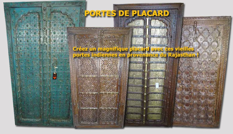 PORTES DE PLACARDS INDIENS